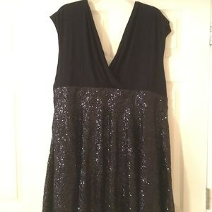 Beautiful Torrid sz 26  black sequin skirt dress